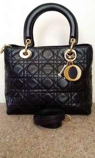 authentic lady dior with strap