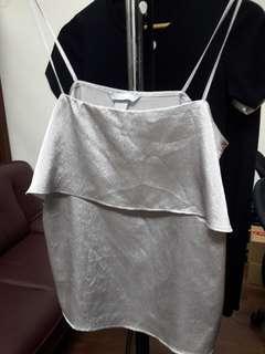 H&M blouse tanktop glitter