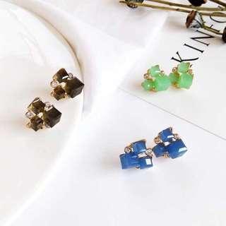 韓🇰🇷時尚 簡約方塊糖 耳環 #十二月良品半價