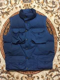🚚 法國 Aigle 藍色工裝型羽絨背心 size:M