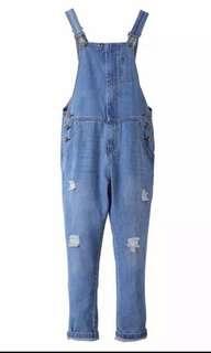 牛仔工人褲  背帶褲 jeans