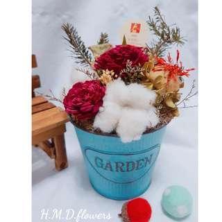 年節禮物 開店賀禮 盆花 乾燥花居家裝飾