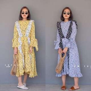 [PO] AMC Retro Ruffle Maxi Dress