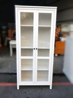IKEA HEMNES白色玻璃門櫃/收納櫃/展示櫃/櫥櫃/餐櫃/書櫃/木櫃/隔間櫃