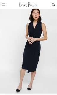 Niata Asymmetrical Crossover Dress