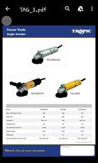 "TROPIC TAG-680 4"" Angle Grinder (100% Made In Taiwan)"