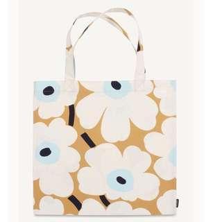 Marimekko 荷蘭品牌 布花托特包 奶茶色