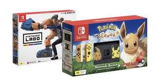 Let's Go Eevee Themed Nintendo Switch Bundle