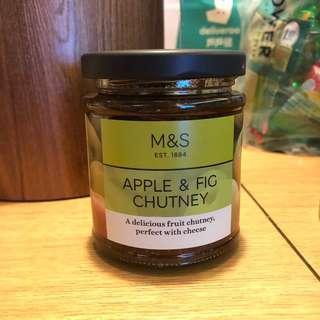 Marks and Spencers apple&fig chutney 蘋果無花果酸辣醬