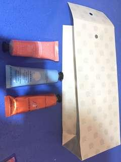 🚚 Brand new Crabtree & Evelyn hand's delight hand therapy trio: la source, rose water & gardener