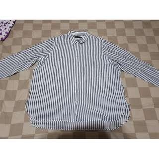 BIG SIZE Stripes Shirt