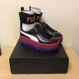 ‼️現貨23.5cm(尺寸偏大)‼️美國代購 FENTY PUMA  ANKLE STRAP SNEAKER 厚底鞋 增高鞋 綁帶