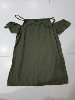 BN Army Green Cold Shoulder Dress