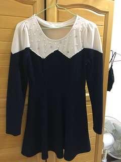 🚚 珠飾質感短洋裝