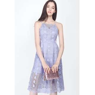 🚚 Fayth Emma Crochet Dress in Periwinkle
