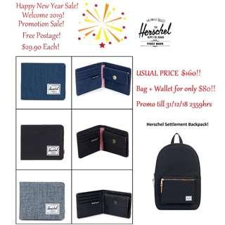 [Happy 2019!!] Sale Herschel Roy Coin Wallets and Bags Promo Set!!