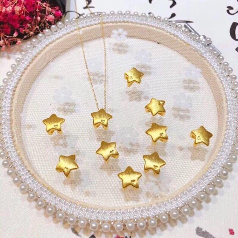 9999純黃金星星項鍊 ( 含18K金鍊) 純金項鍊 黃金項鍊