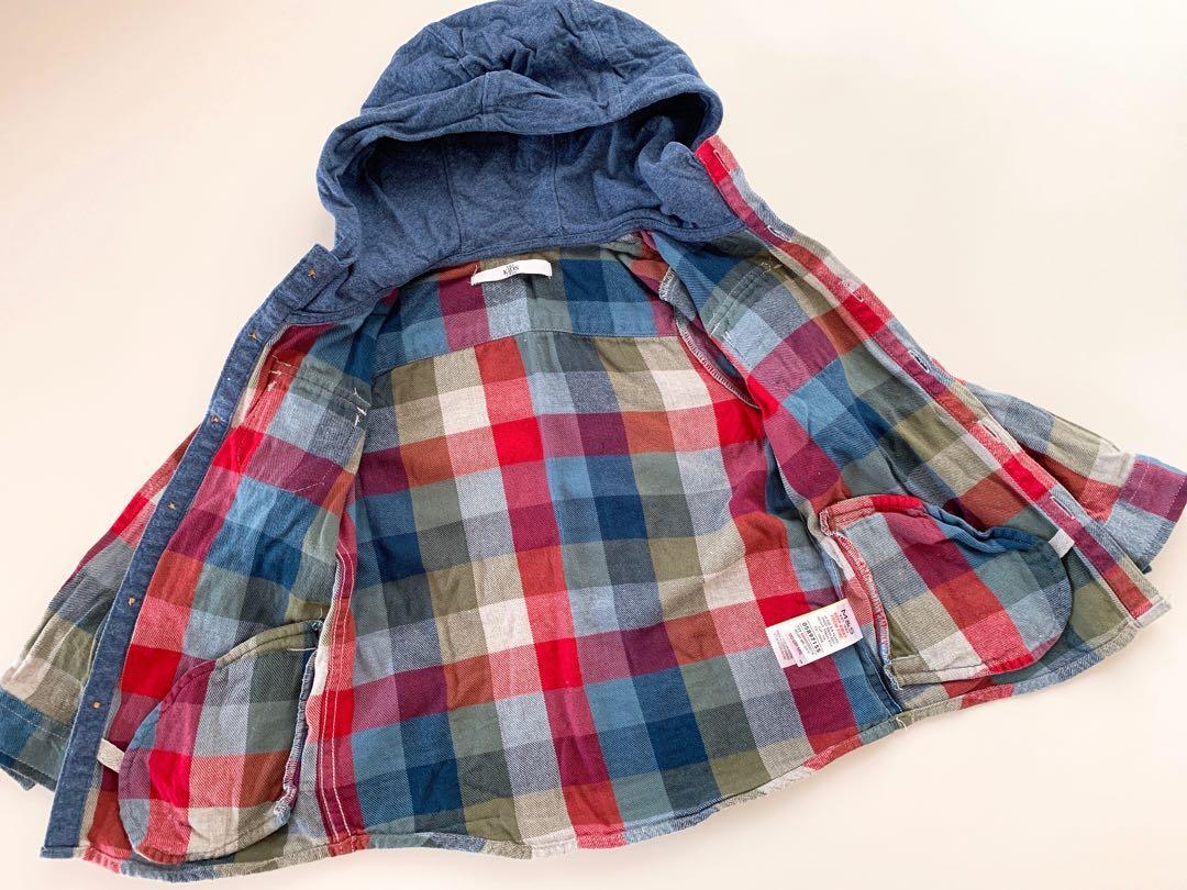 男童 格仔外套 格仔外套 恤衫 長袖衫 Checkered jacket, shirt, long-sleeved shirt