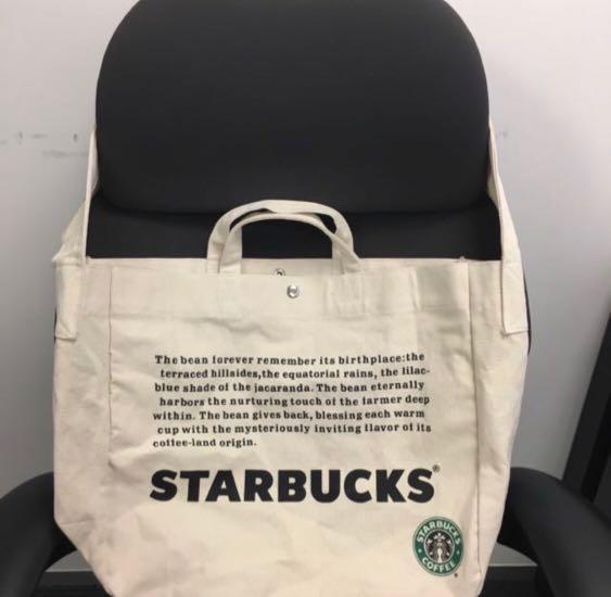 [全新絕版] Starbucks 2Way Canvas Bag 星巴克兩用帆布環保購物袋