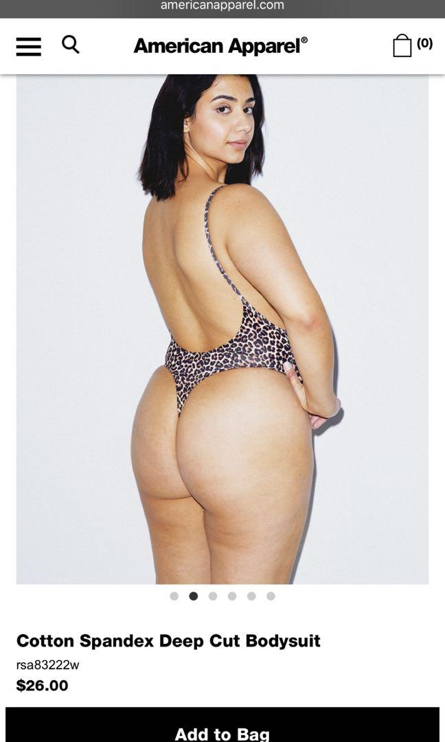 American Apparel Leopard cheetah print bodysuit NEW
