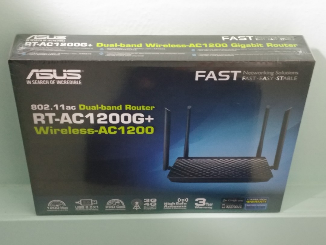 Asus dual-band wireless router RT-AC1200G+