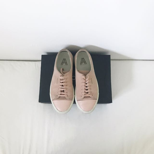 acd98f98ea1 Axel Arigato cap toe sneaker in Pale Pink Suede Leather