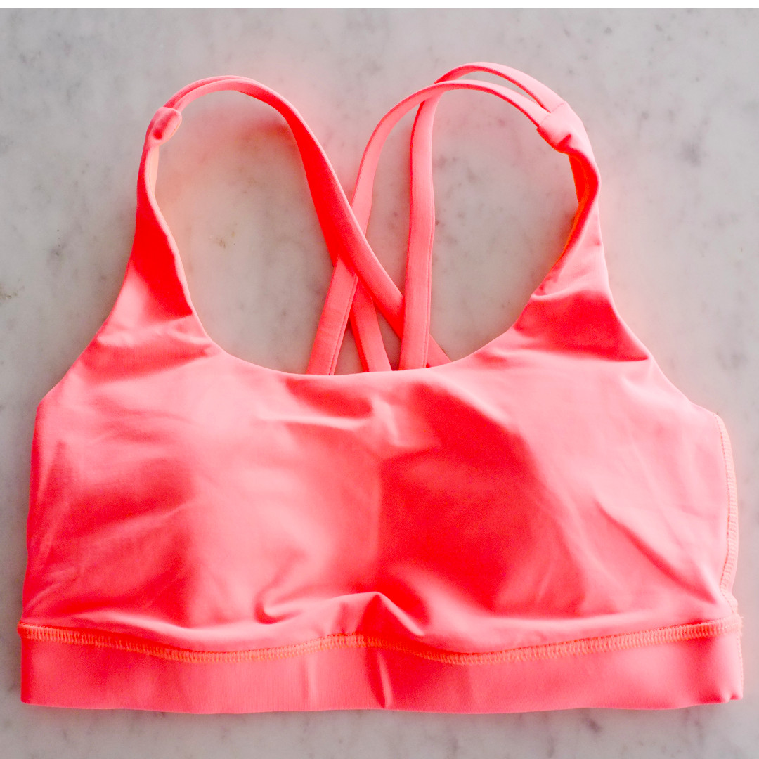29d4f0fe2c62c BN Size 4 Lululemon Energy Bra fluorescent creamsicle orange