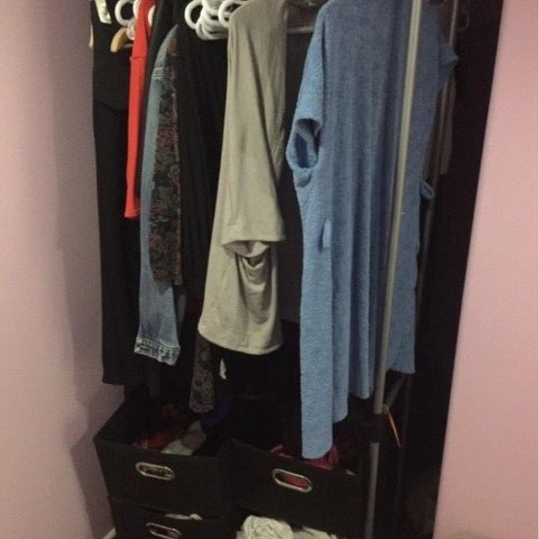 Clothes wardrobe/hanger - $20 (disassemble, easy to assemble w/o tools)