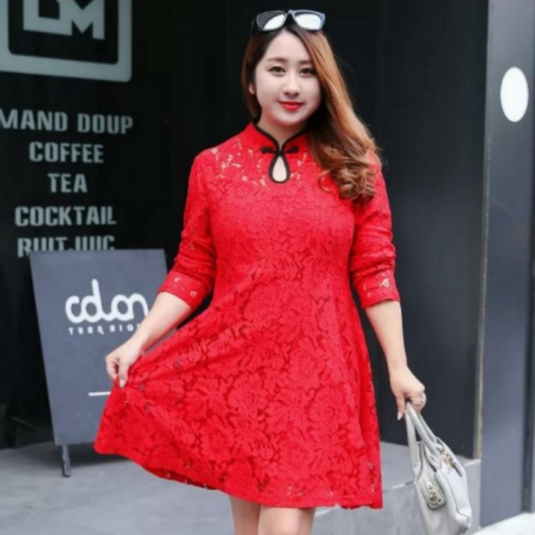 0f14d0f406e CNY 2019 Collection  Pre Order  L - 4XL  Plus Size CheongSam Dress ...