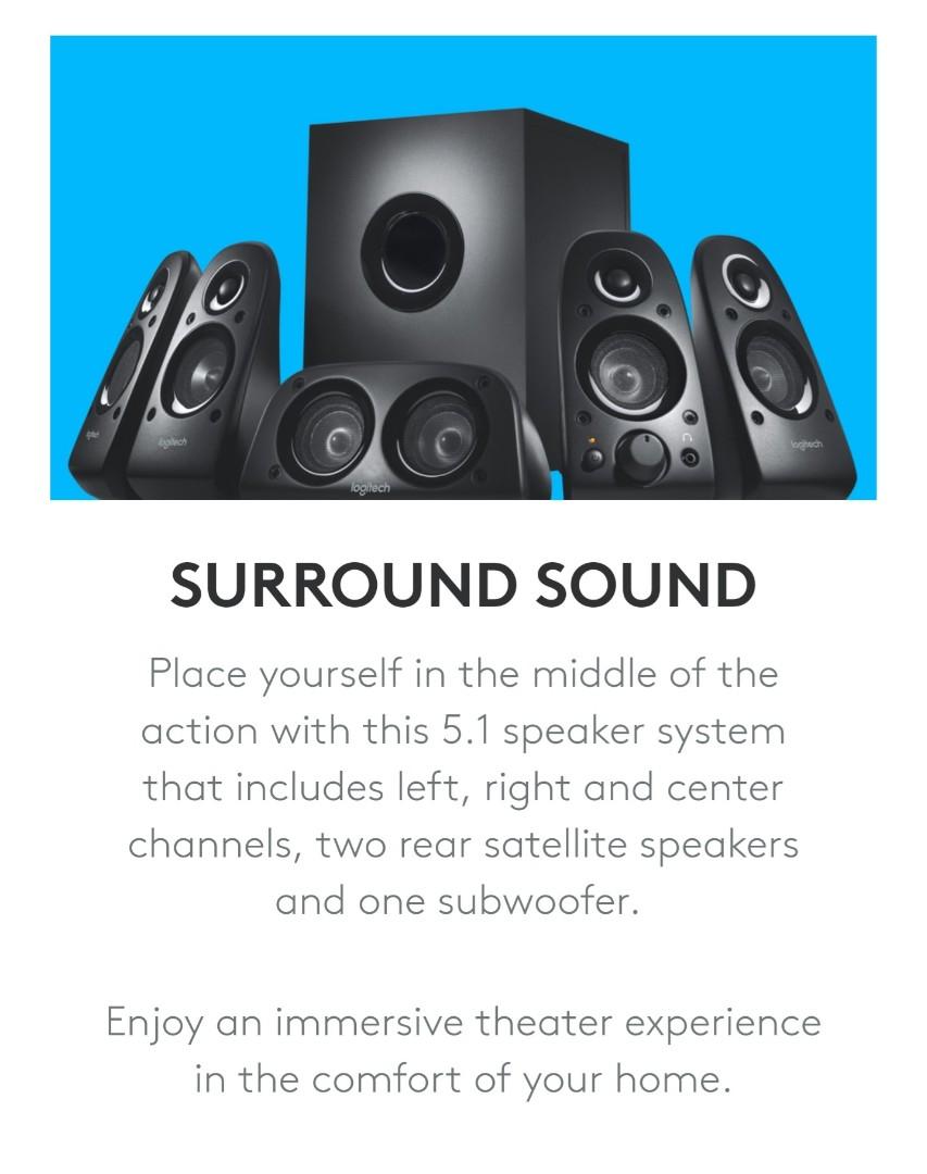 b946bf04df2 Free Delivery) Logitech Z506 5.1 Home Theatre Surround Sound ...