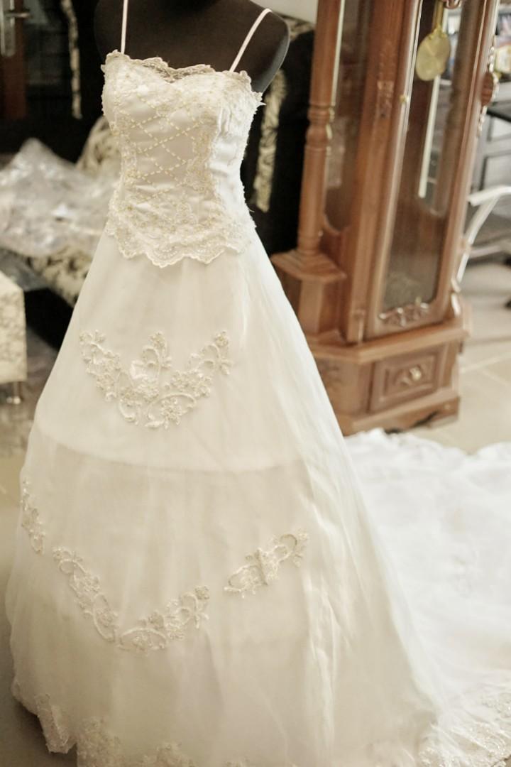 Gaun Pengantin Panjang Ekor Baju Pengantin Wedding Gown Women S