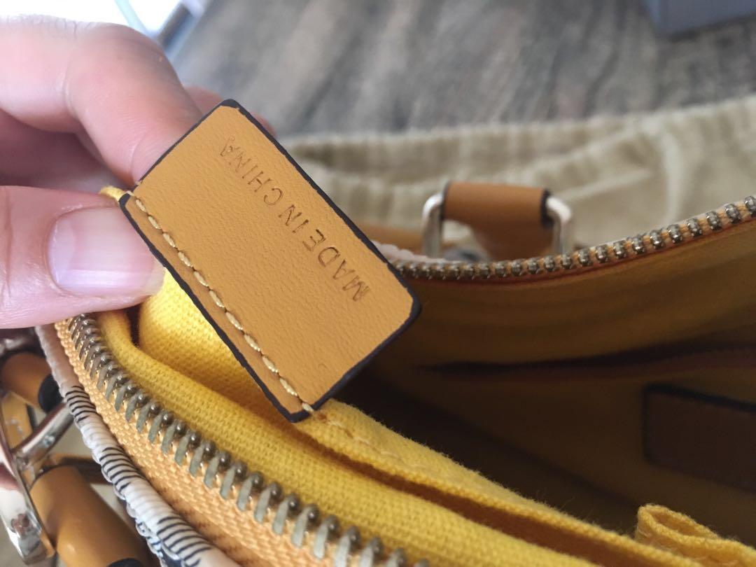 Genuine mustard yellow burberry cross body handbag