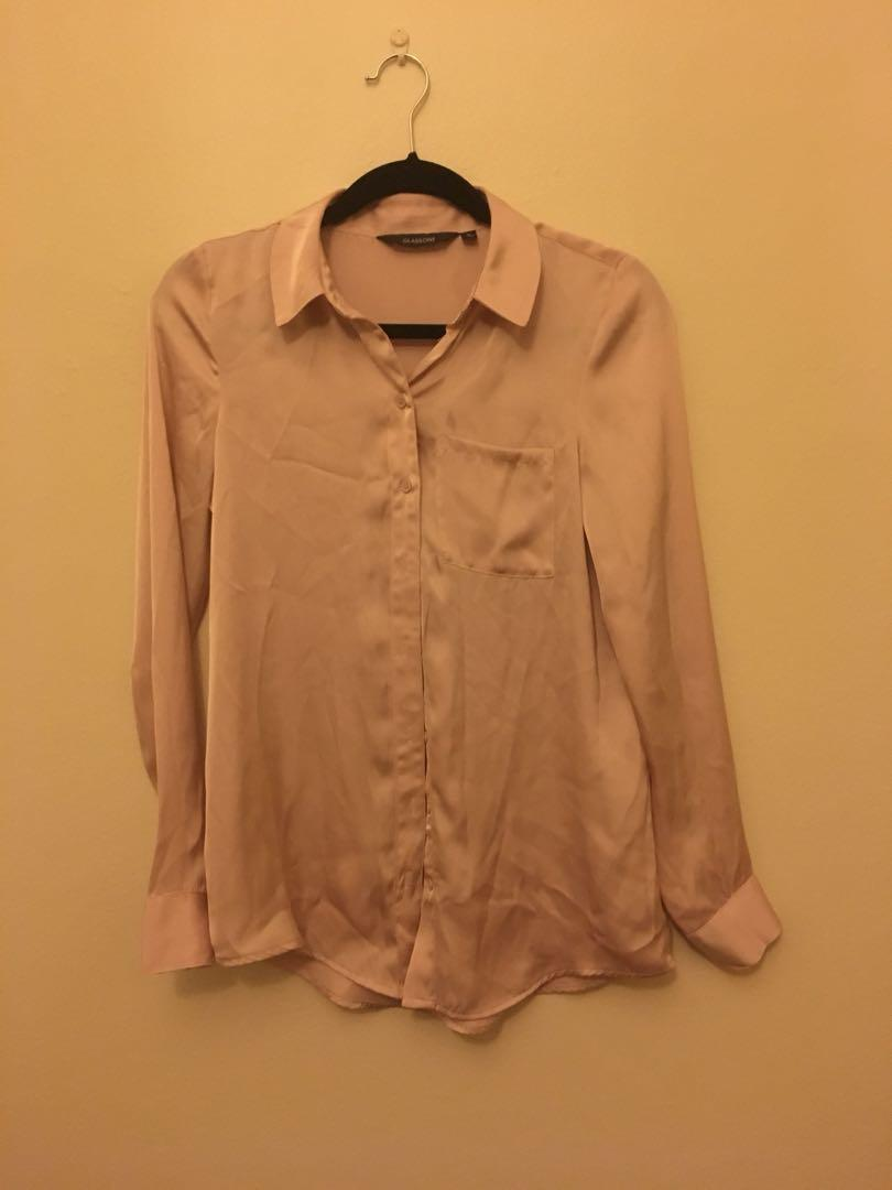 Glassons silky pink blouse