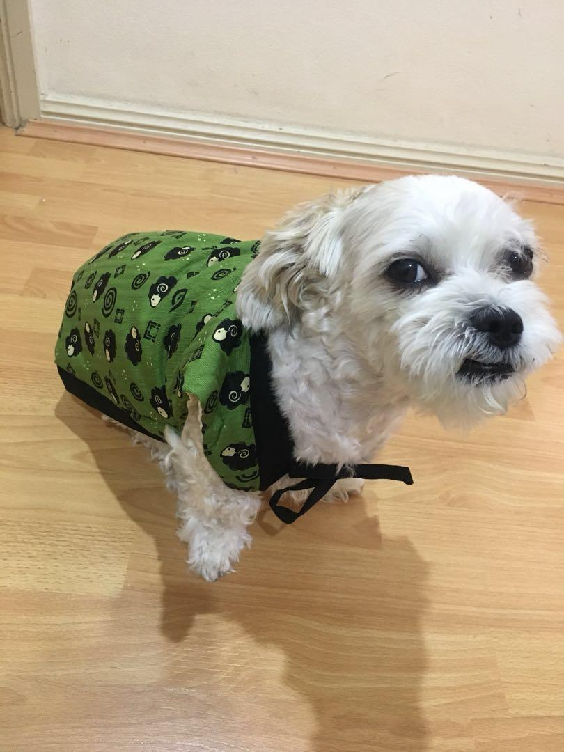 Japanese style kimono like pet costume for dogs