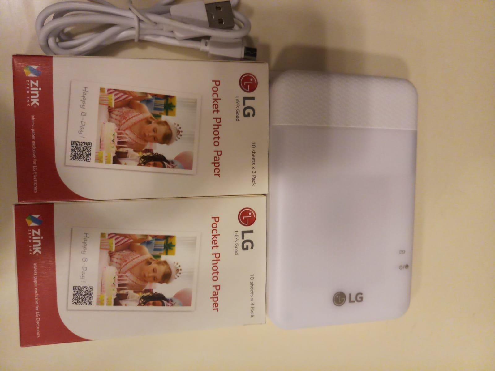 LG PD261 photo printer pocket 迷你打印機 照片 including 60 photo paper
