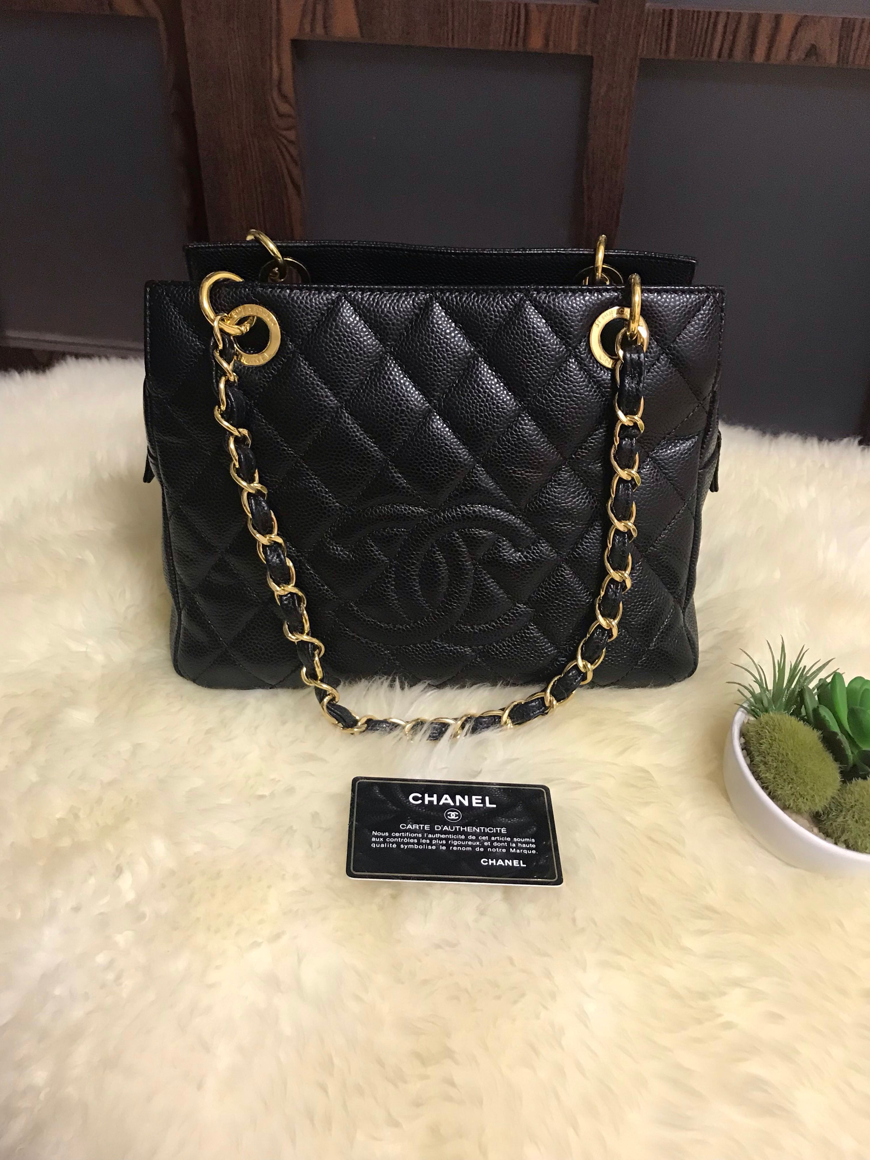 155c12fe609cb0 Like New Chanel PTT Petite Timeless Tote Caviar Black With Ghw, Luxury, Bags  & Wallets, Handbags on Carousell
