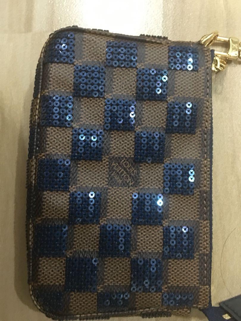 Louis Vuitton accessories pouch mini Pochette Accessories Daniel sequins and blue