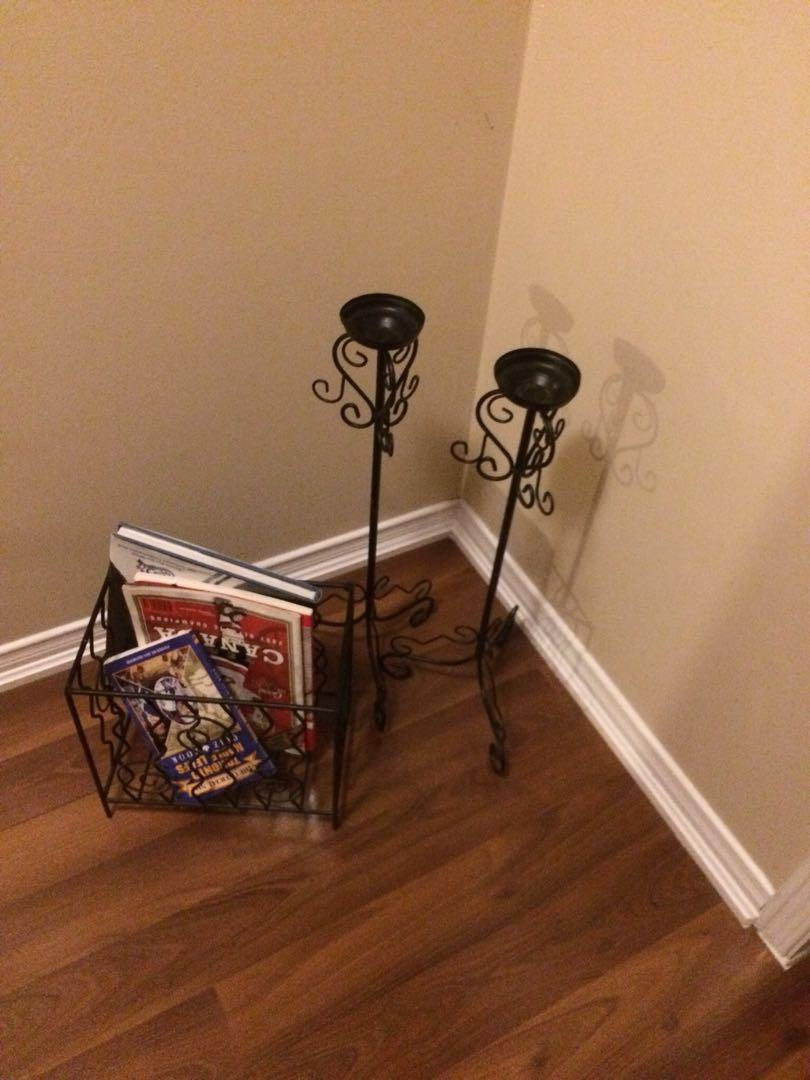 Magazine and candle stands
