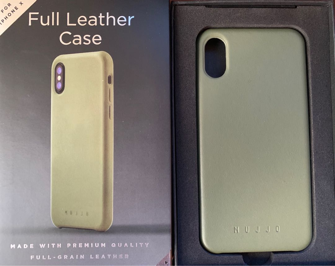 quality design 7115f 0cabd Mujjo Full Leather Case iPhone X / iPhone Xs - Olive