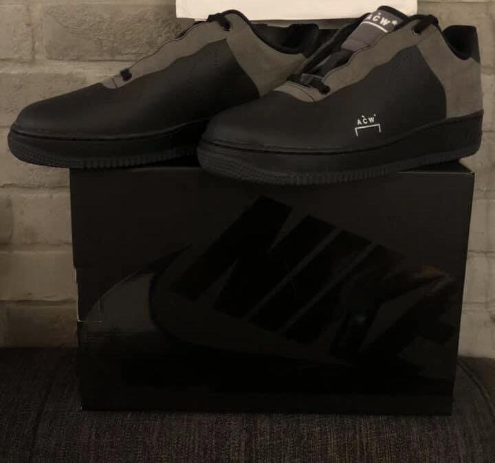 hot sale online f90cb c380d Nike x ACW Air Force 1 (Black), Mens Fashion, Footwear, Sneakers on  Carousell