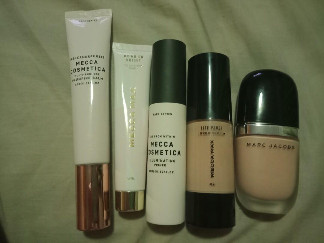 Palettes, primers, lipsticks - Marc Jacobs, Kat Von D, Mecca Max, Tarte and more!