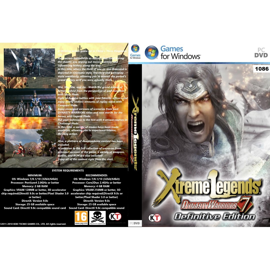dynasty warriors 7 xtreme legends definitive edition pc