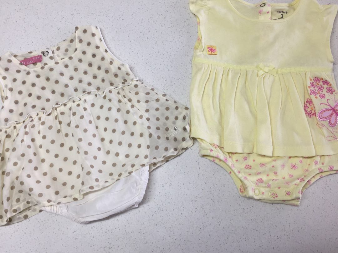 3b1467c9c PL Bloom B and Carter s baby girl rompers bundle deal size 3 months ...