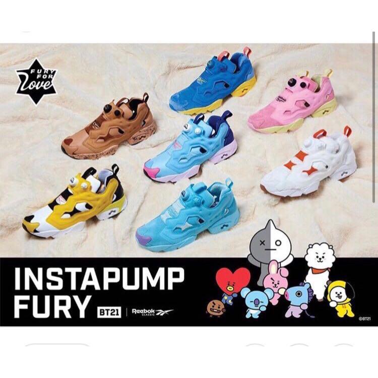 2d4418c1371874 PO  BT21 X Reebok Classic Instapump Fury Shoes