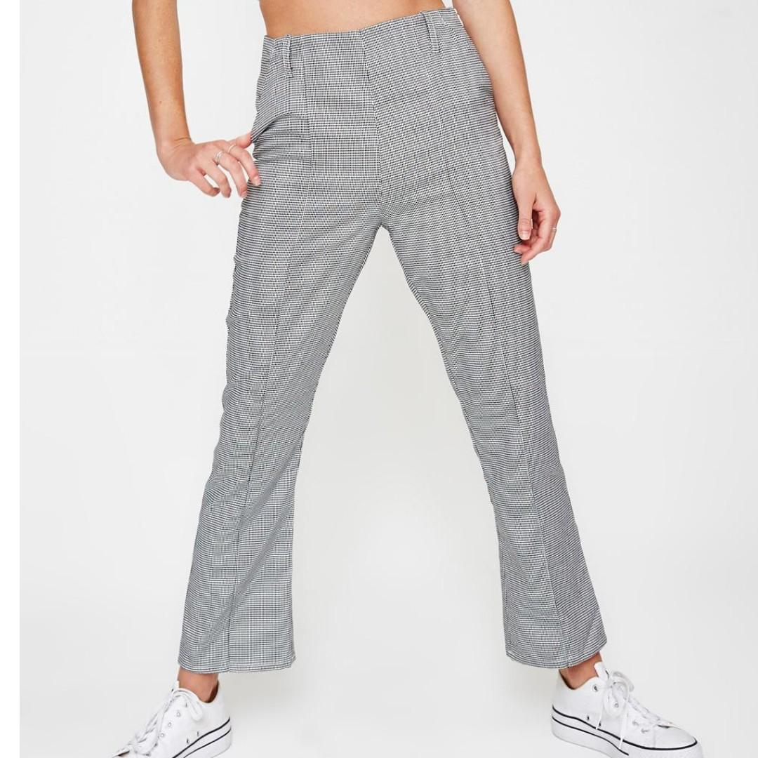 subtilted gingham pants