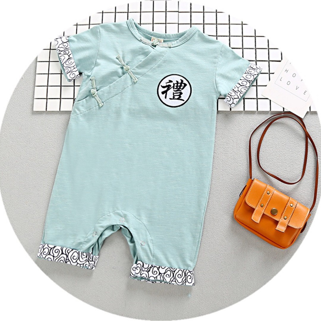 42577bcc4 TZ039 Baby Boys CNY Traditional Coveralls Romper