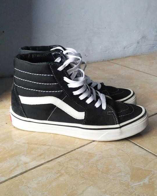 8e335cbca0 Vans Sk8-Hi Classic Black White Size 6.5 US ORIGINAL