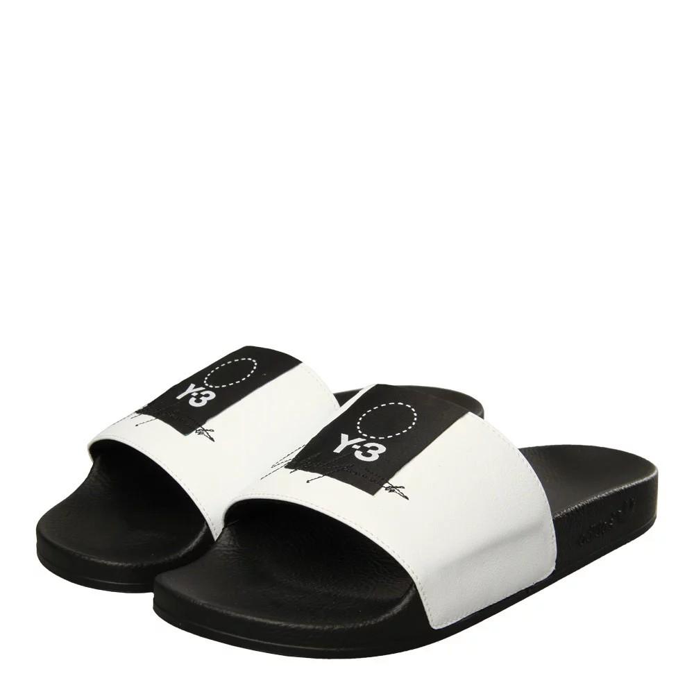 d752040ac3c8e Y-3 Slides Size 10 Black White Adilette