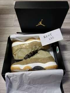 Air Jordan 11 Olive Lux 100%Real&New UK8.5=Eu43