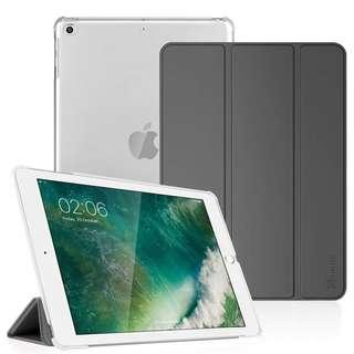 Fintie iPad 9.7 2018/2017 Case - Lightweight Slim Shell Cover with Translucent Frosted Back Protector Supports Auto Wake/Sleep for Apple iPad 9.7 6th 5th Generation, Space Gray
